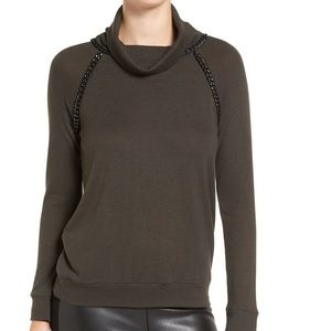 Bailey 44 Wool Blend Sweater Chain Accents